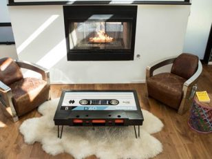TAYBLES The Original Cassette Tape Coffee Table
